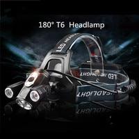 ZPAA Portable Powerful 3xT6 LED Headlamp 18650 Tactical 4 Mode Headlight 360 Degree Front Bike Bicycle