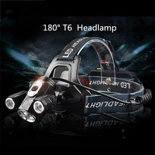 ZPAA Portable  powerful 3xT6 LED headlamp 18650 tactical 4-mode headlight 360 degree front bike bicycle lamp torch light