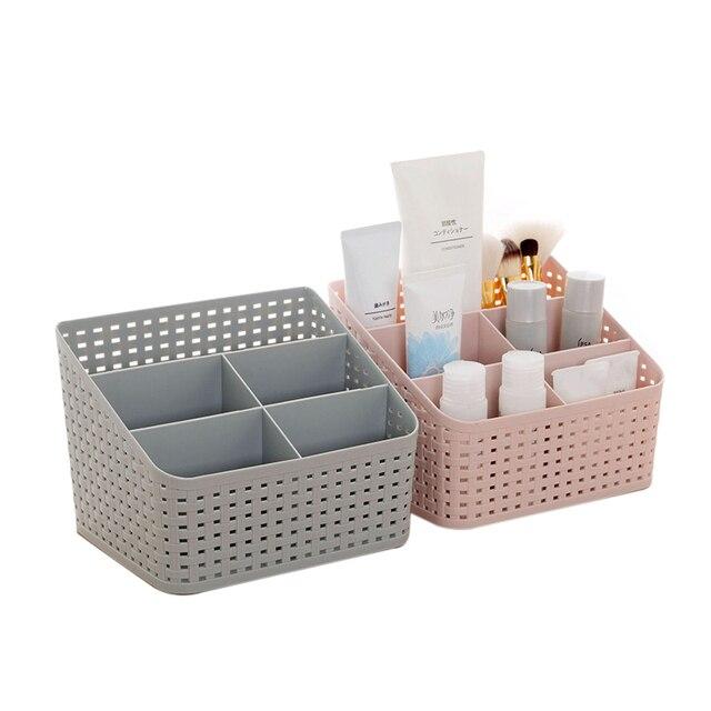 Urijk пластиковый органайзер для косметики контейнер для хранения косметики ящик домашний рабочий стол хранение мелких украшений коробка Прямая доставка