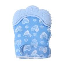 Pacifier Teething Wrapper Sound Sweet Mitten Nursing Child Glove Silicone Teether
