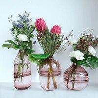 Nordic Design Glass Vase European Decoration Home Flower Vase Flower Arrangement Hydroponic Tabletop Vase For Flower Decoration