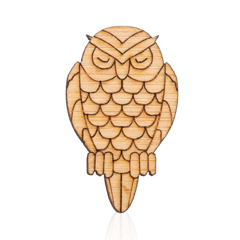 Yiustar Nuovo Arrivo Delle Donne di Modo Uccello Spilla Spilli Owle Spille Up Designer di Legno Animale Spille Retrò Creativo Tutti Dei Monili