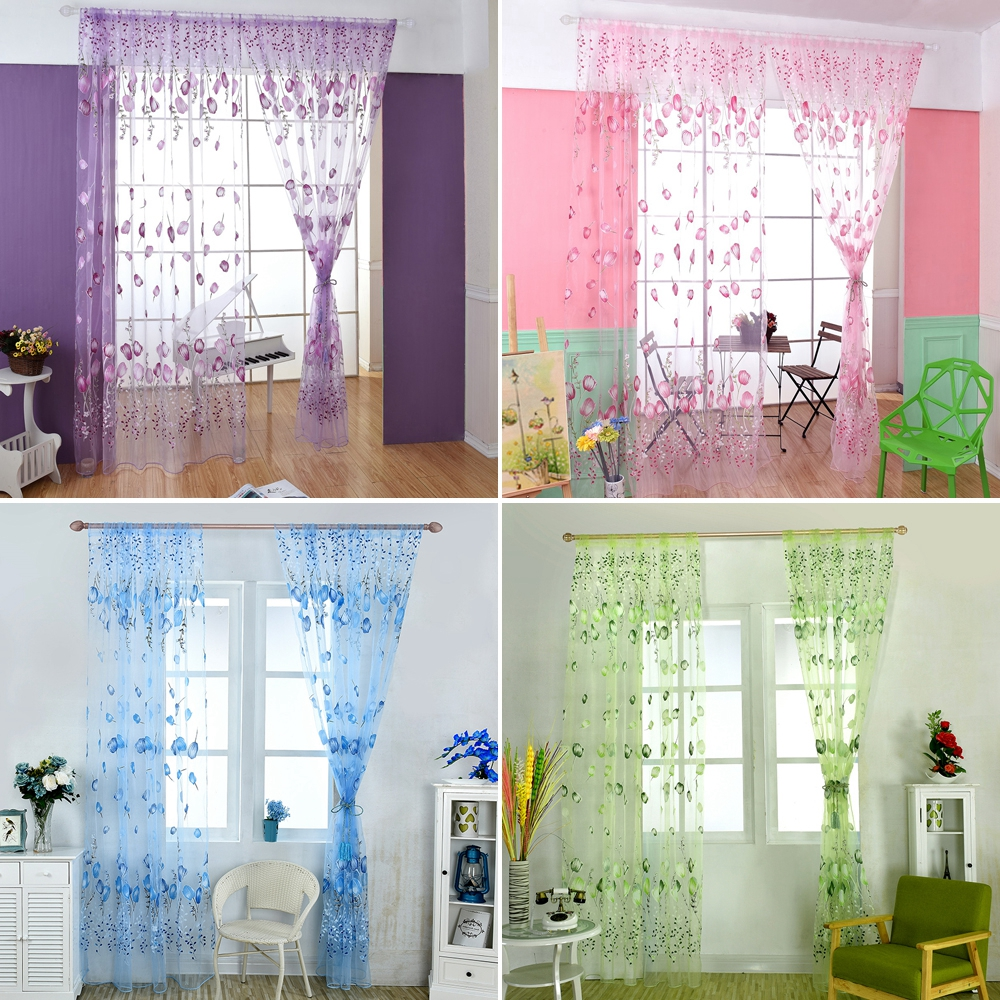 New Tulip Finished Window Curtain Living Room Bedroom