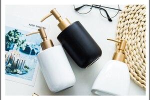 Image 2 - Дозатор для жидкого мыла, бутылка с гелем для душа, портативный керамический диспенсер для ванной комнаты, дезинфицирующее средство для моющего средства