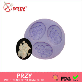 Venta caliente pareja chocolate silicona molde fondant pastel decoración molde caramelo molde jabón flor confeti