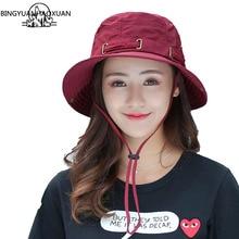 BINGYUANHAOXUAN New Men Bucket Hats Women Hip hop Caps Summer Beach Sun Hat Fisherman Casual Fedora