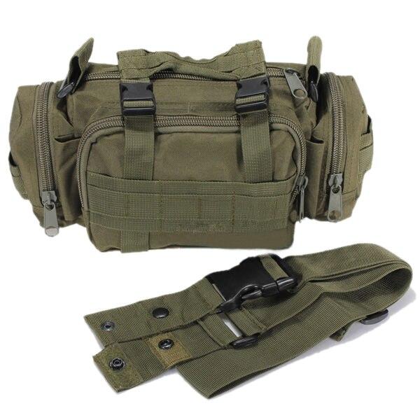 Paquete de la Cintura Bolsa Militar Bolso de la Alta Calidad Del Bolso de Nylon Impermeable Verde