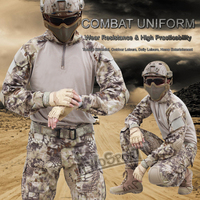 WoSporT CS Tactical Clothes Military Army Combat Uniform Pant with Knee Elbow Pads Camouflage Hunting Airsoft Clothe