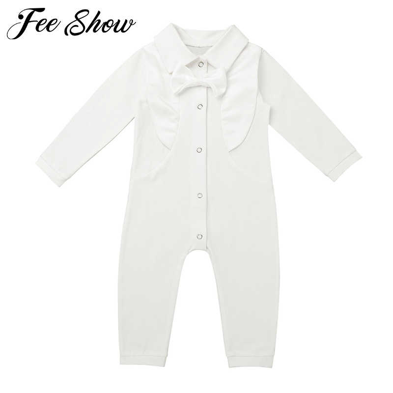 348dbf80089a Autumn Winter Infant Baby Boy Christening Outfit Infant Boy Wedding Romper  Formal Gentleman Suits Baptism Baby