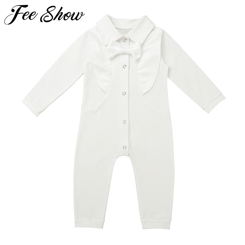Autumn Winter Infant Baby Boy Christening Outfit Infant Boy Wedding   Romper   Formal Gentleman Suits Baptism Baby Boy Clothes