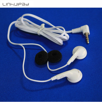 white disposable earbuds low cost earphone for school library,hotel,hospital 5000pcs/lot