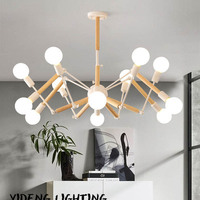 Vintage Modern LED Chandelier Spider Lustre E27 Livingroom Lighting For Kitchen Restaurant Chandeliers Fixture Lights LED