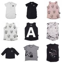Nununu Summer 2018 New Cotton T-Shirt For 1-9 Age Kids Children T-Shirts Girls Boys Tees Tops Clothing