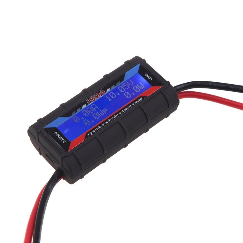 FT08 RC 150A High Precision Watt Meter and Power Analyzer w/ Backlight LCD new 4 8v 60v 150a lcd g t power module rc watt meter tester and power analyzer high precision