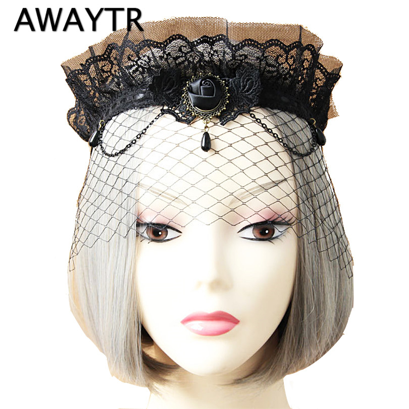 Lady Elegant Sexy Gothic Crown Flower Black Lace Veil Half Face Eye Mask Stretch Headband Costume Ball Party Halloween Accessory wfgogo thickness 23 cm spring mattress twin high density vacuum compression foam latex soft bed bedding