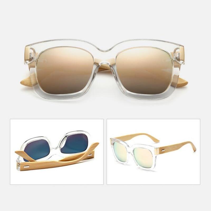 36c60081f5057 Venda quente 2018 Nova Handmade Espelho Óculos Óculos de Sol Das Mulheres  Dos Homens Do Vintage Óculos De Sol De Madeira de Bambu Bambu Zonnebril  Dames ...