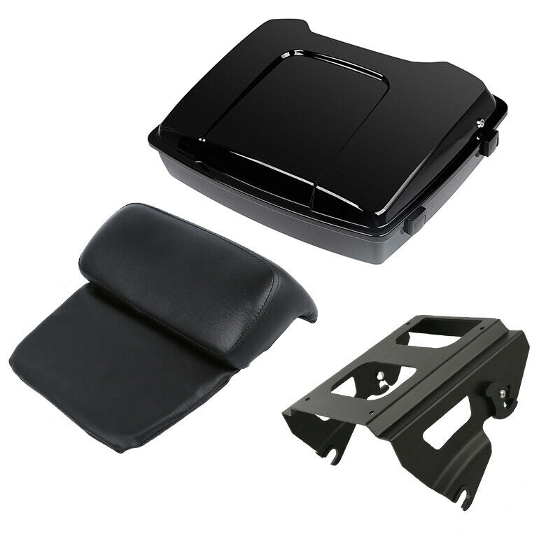 """Motorcycle 5.5"""" Razor Pack Trunk Backrest Solo Mounting Rack For Harley Touring Road Street Electra Glide FLHT FLHR FLTRX 09 13 Motorcycle Trunk     - title="""