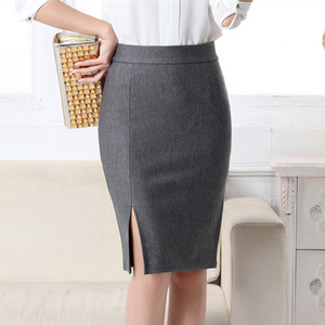 Image 5 - 2017 New Women Formal Work Wear Skirts Ladies Sexy High Waist Mini Pencil Skirt 7 Colors Stretch Package Hip SP5602