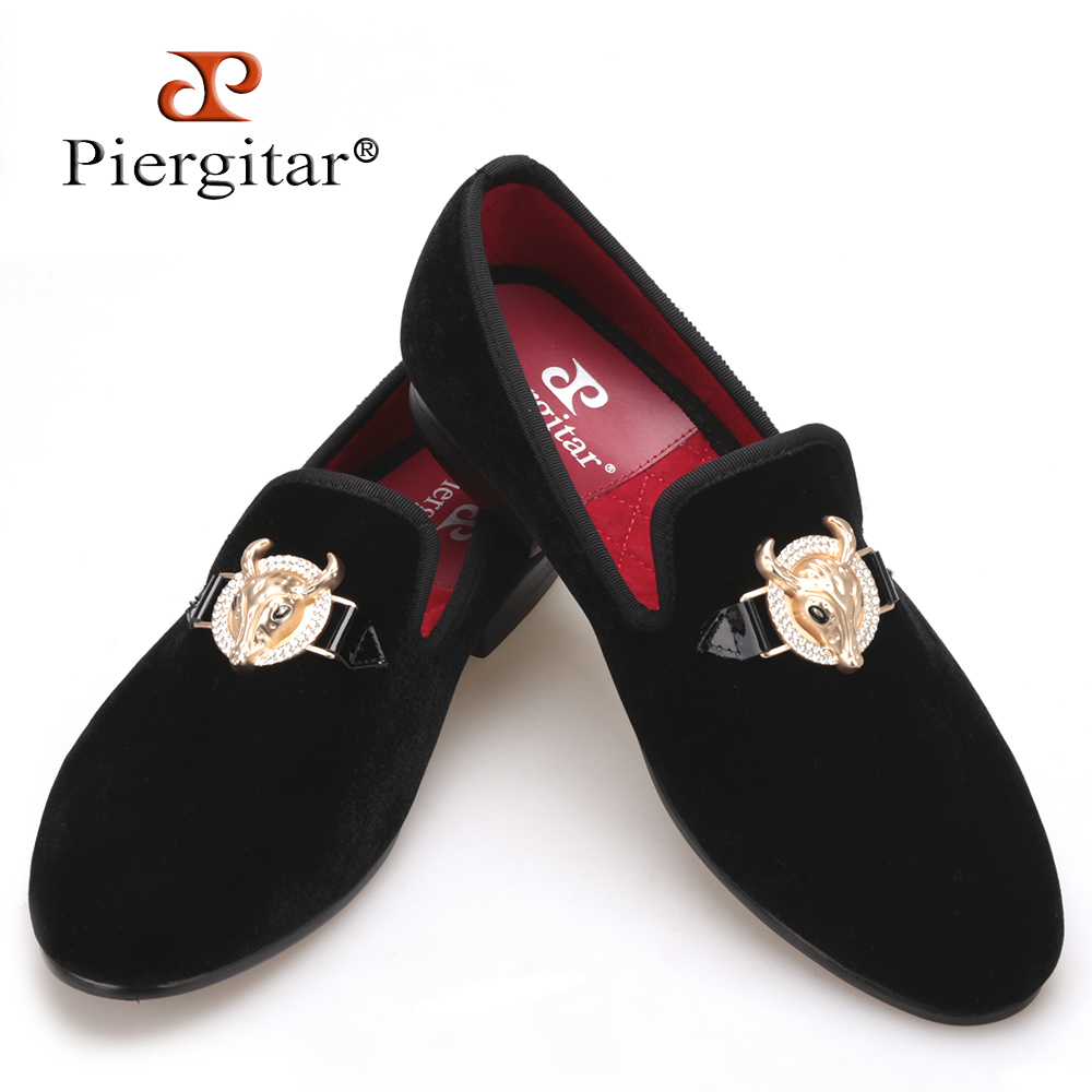 2016 New arrival  men Velvet shoes with Tau buckle Men Smoking Slipper Fashion Prom and Banquet Loafers Men Flats Size US 4-17 piergitar 2016 new india handmade luxurious embroidery men velvet shoes men dress shoes banquet and prom male plus size loafers