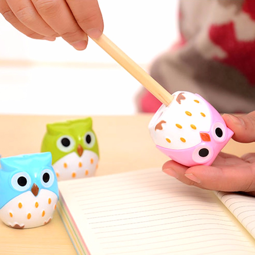 1pcs Cute Night Owl Shape Pencil Sharpener Office Desktop Item School Supply