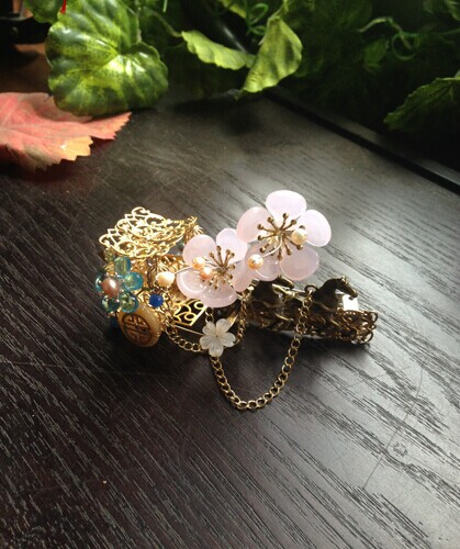 Colored Glaze Carriage Mei Gong Qing Hair Pin Pinchcock Vintage Classical Hair Stick Hair Jewelry Hanfu Costume Accessory pink crystal double layer classical hair stick vintage hair accessory hair stick hanfu hair accessory