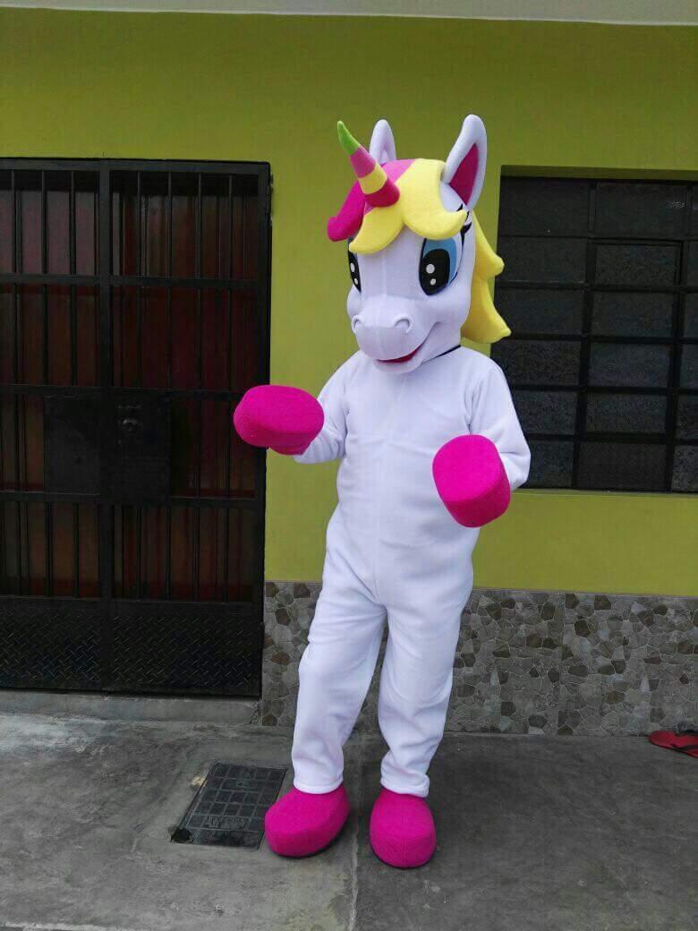 Costume de mascotte licorne costume de mascotte petit poney costume de déguisement de poney arc-en-ciel pour adulte fête de pourim Halloween