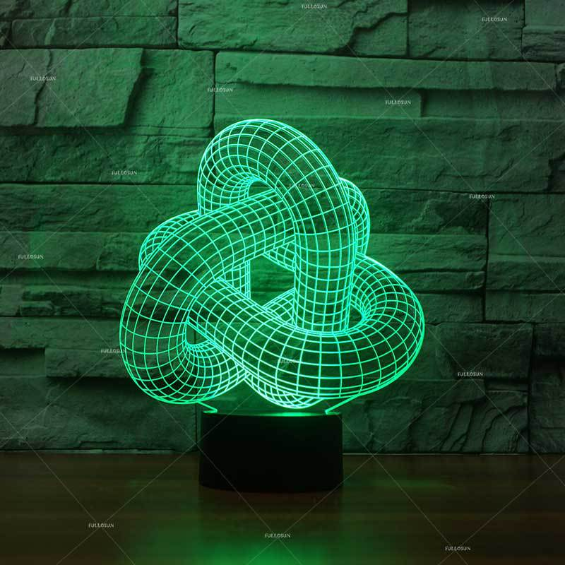 Lights & Lighting Product Abstract Modeling Usb 3d Nightlight Seven Color Logo Customized Led Table Lamp For Bedroom Table Moderne Desk Lamp Led Table Lamps