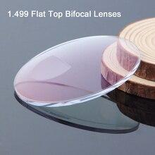 Bifocalแว่นตาแสงเลนส์สำหรับการอ่านและไกลวิสัยทัศน์เลนส์สั่งแว่นตาแว่นตาเลนส์สำหรับผู้หญิงและผู้ชาย 1.499