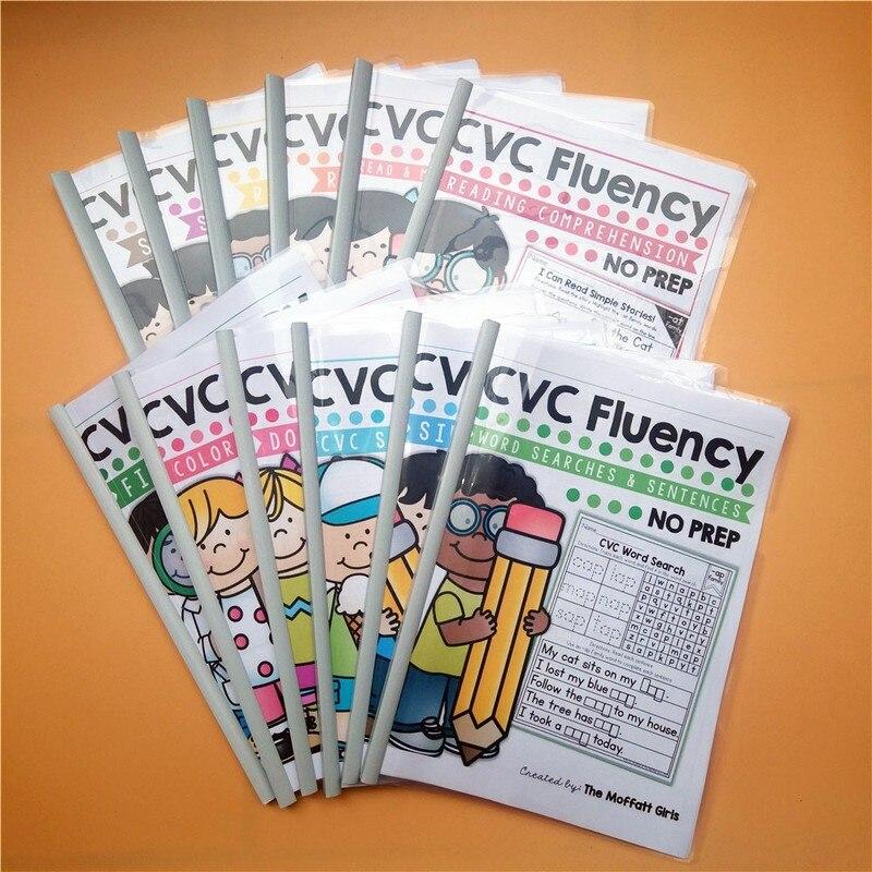 12 bücher/Set Englisch Lernen Pinyin Natürliche Rechtschreibung CVC Wort Klassenzimmer Spiel Integration Workbook Unterricht Lesen Bücher auf   1
