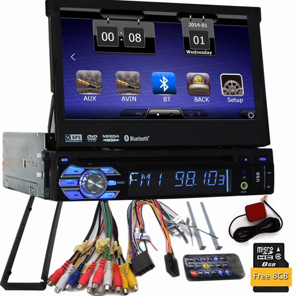 1 Din 7 дюймов автомобильные стерео окна в тире Один Din gps dvd-плеер стерео Bluetooth USB SD AM/FM рулевое колесо управление автомобильный Радио