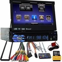 1 Din 7 Inch Car Stereo Windows in Dash Single Din GPS DVD Player Stereo Bluetooth USB SD AM/FM Steering Wheel Control Car Radio