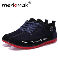 Merkmak 2017 Shoes Men Fashion Casual Spring Autumn Breathable Flats Shoes Outdoor Light Soft Style Leisure