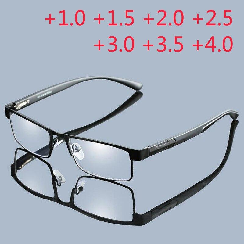Высококачественные мужские очки из титанового сплава, не сферические очки для чтения с полностью металлическим покрытием + 1,0 + 1,5 + 2,0 + 2,5 + 3,0 + 3,5 + 4,0 glasses presbyopia reading glassesreading glasses presbyopia   АлиЭкспресс