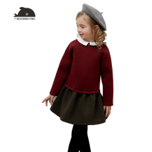 Autumn Winter Girl Dress Long Sleeve Patchwork Dress for Girls Princess  Dresses 3-12Y Kids Clothes christmas dress недорого
