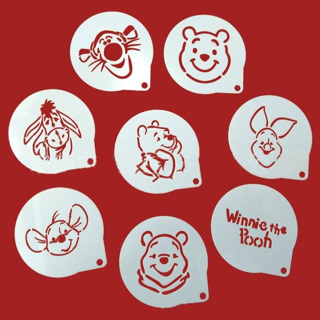 8 Unids/lote Oso de Dibujos Animados Figura de Decoración Café ...