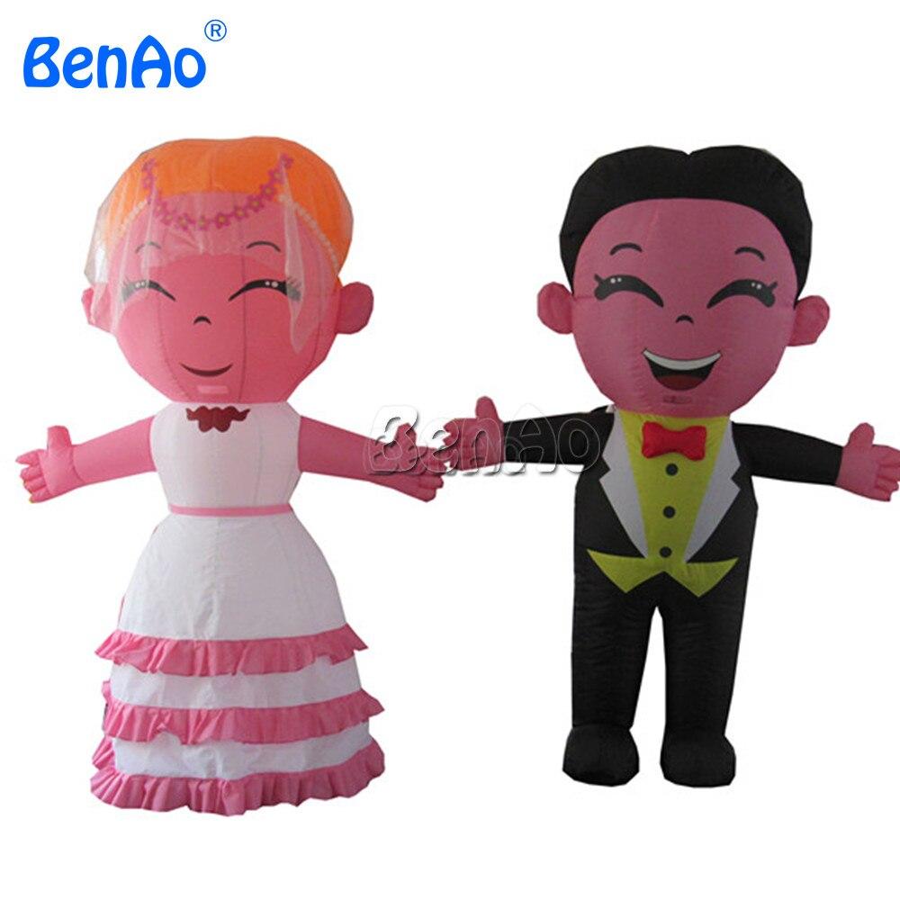 DC46 BenAo индивидуальные надувные Жених и невеста для свадьбы или Валентина украшения/прекрасный надувной невесты и жениха модель