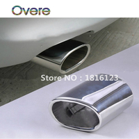 Overe 1PC Stainless Steel Car Exhaust Muffler Tip Pipes Car styling for BMW E90 E91 E92 E93 318i 318d Auto Car Accessories