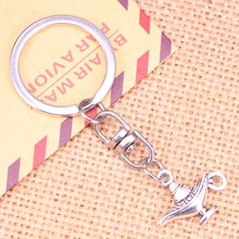 20pcs New Fashion Keychain 22x18mm aladdin magic lamp genie Pendants DIY Men Jewelry Car Key Chain Ring Holder Souvenir For Gift