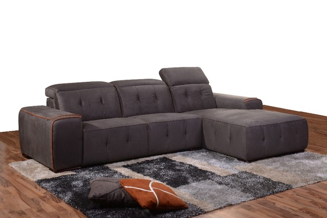 Modern Living Room Furniture Corner Sofa In High Quality Fabric 1509 With  Colorful Piping