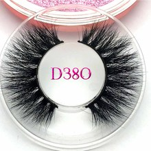 Mikiwi D380 3D mink eyelashes 20MM long thick 3d mink lashes Mix styles Rose gold case Volume mink lashes