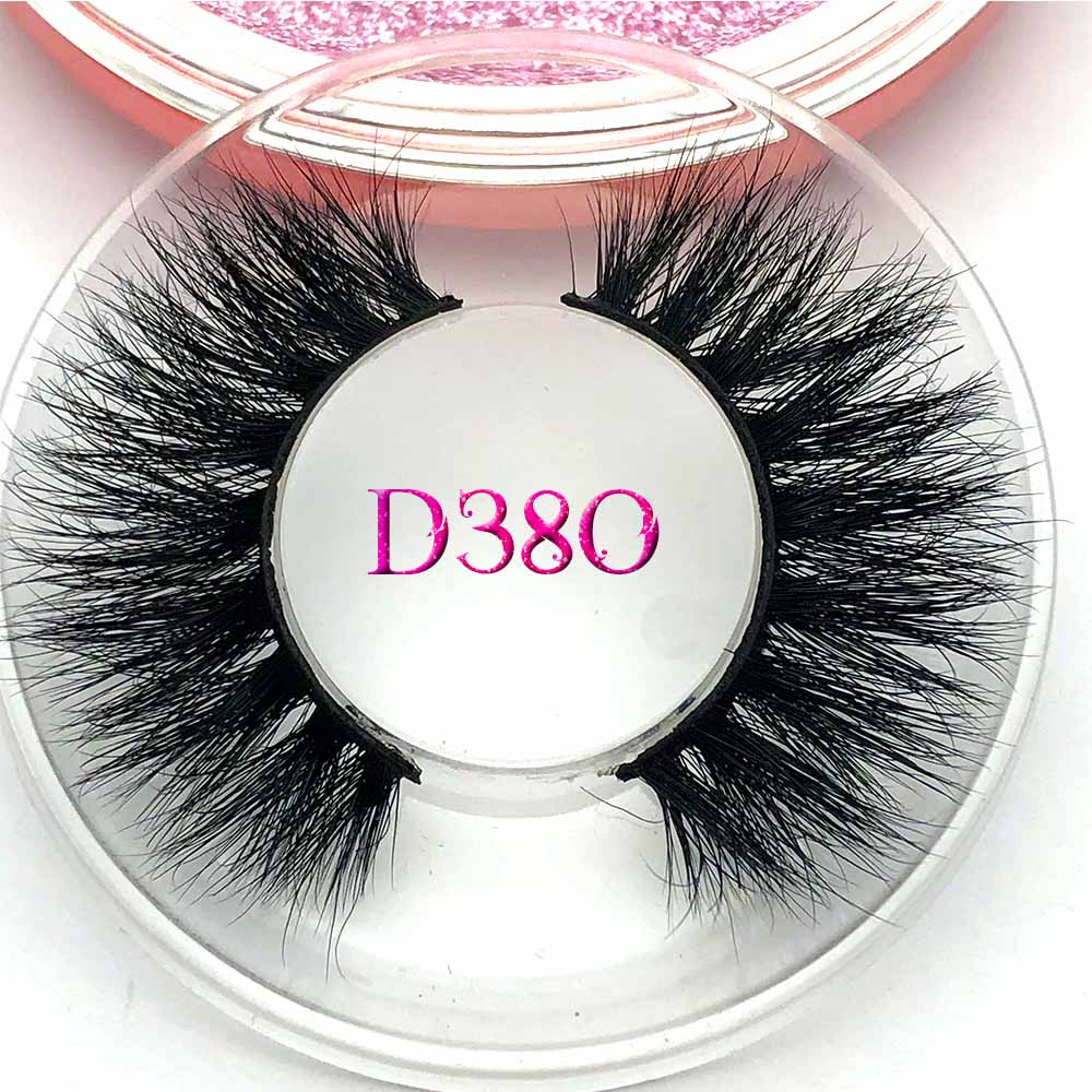 Mikiwi D380 3D Mink Eyelashes GB Popular Long Thick 3d Mink Lashes 50 Styles UK Mua Rose Gold Case Volume Mink Lashes