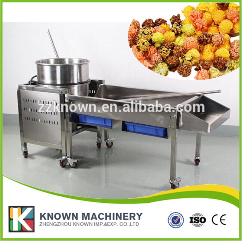 High quality two minutes/batch stainless steel gas Ball Popcorn maker Machine fast food leisure fast food equipment stainless steel gas fryer 3l spanish churro maker machine