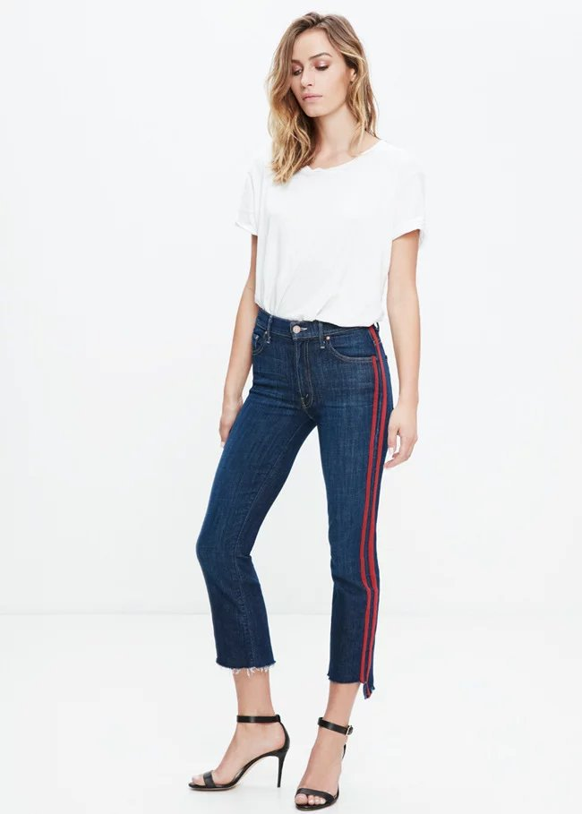 Fetoo 17 High waist jeans women skinny flare pants side stripe Spliced jeans moustache street ankle-length pants elegant S-XL 9