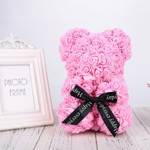 Artificial Flowers Rose Bear Girlfriend Anniversary Christmas Valentine's Day Gift Birthday Present For Wedding Party Decoration(China)