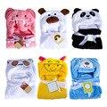 2017 Cobertores Do Bebê Recém-nascido Do Bebê Com Capuz Toalha De Banho Bonito Flanela Animal Dos Desenhos Animados Da Criança Do Bebê Da Cama