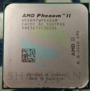 AMD Phenom X4 B97 Quad-Core DeskTop CPU HDXB97WFK4DGM Socket AM3