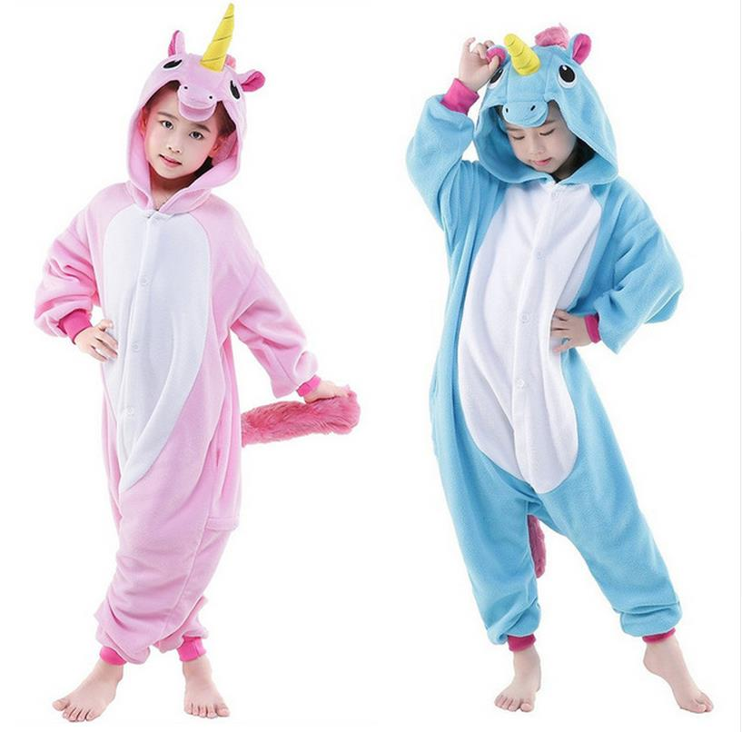 Children Animal Onesie Unicorn Pajamas For Kids Halloween ...
