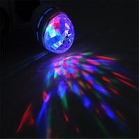 Gqmmlミニホーム回転rgb ledステージクリスタルマジックライトled移動ヘッドディスコパーティーdjライト85-260ボルト150ma e27 3ワット18 n4025