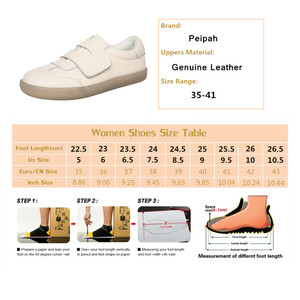 Image 5 - PEIPAH Spring Cow Leather Casual Women Shoes Zapatos Mujer  Women Sneakers Zapatillas Deportivas Mujer Womens Walking Shoes