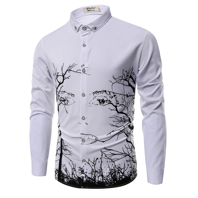 Plus size brand clothing 2017 New spring cotton men's long-sleeved shirt camisas Business casual fashion Slim shirt XXXL